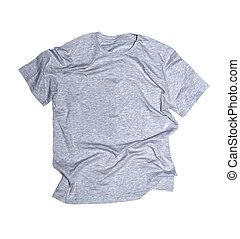 szürke, póló, képben látható, egy, white háttér