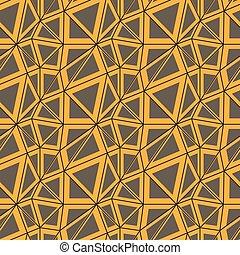 szürke, seamless, sárga, vektor, megvonalaz, háromszögek, motívum
