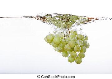 szőlő, loccsanás