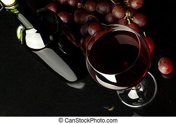 szőlő, vörös bor