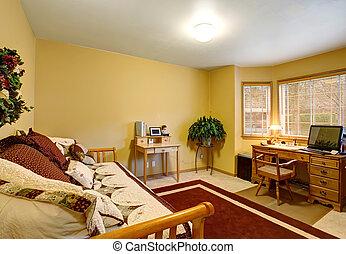 szőnyeg, hivatal, hagyományos, desk., otthon, piros, kedves