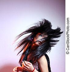 szőr mód, hosszú