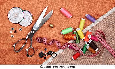 szabászat, segédszervek, állhatatos, narancs, eszközök, szerkezet