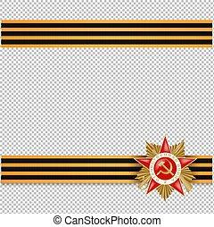 szabad nap, 9, diadal, háttér, orosz, ünnep, határ, áttetsző