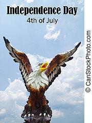szabadság, july fourth, nap