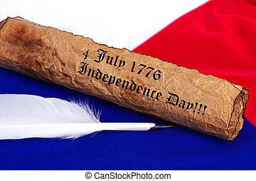szabadság nap, 4, július, 1776