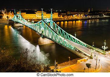 Szabadsag, Liberty Bridge in Budapest