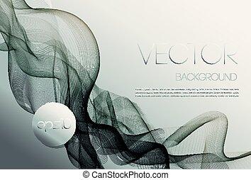 szablon, abstrakcyjny, machać, projektować, tło, broszura