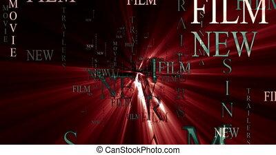 szablon, afisz, video, reklama, tekst, graphics., film, film...