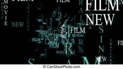 szablon, film, reklama, tekst, graphics., maruder, film.