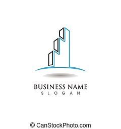 szablon, finanse, handlowy, logo