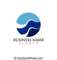 szablon, finanse, logo, handlowy
