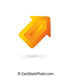szablon, handlowy, logo, ikona, projektować, strzała