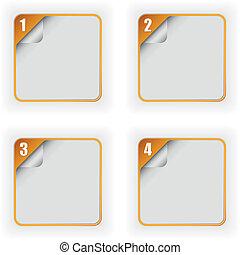 szablon, opcje, strona, cztery, 3d