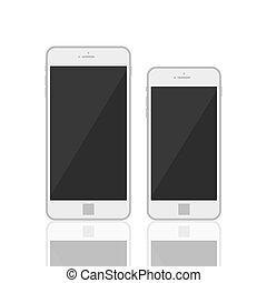 szablon, realistyczny, 3d, smartphone
