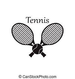 szablon, sport, odznaka, logo, ikona, tenis, projektować