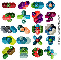 szablony, #2, koło, komplet, infographic