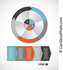 szablony, eps10, illustration., handlowy, infographic, wektor