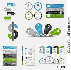 szablony, handlowa ilustracja, infographic, wektor, zbiór