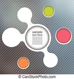 szablony, infographic, związany, metaballs, handlowy
