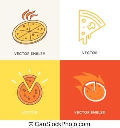 szablony, logo, wystawiany zamiar, wektor