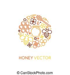 szablony, styl, linearny, pakowanie, wektor, projektować, modny, logo