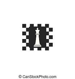 szachy, logo, ikona