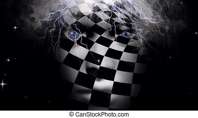 szachy, twarz