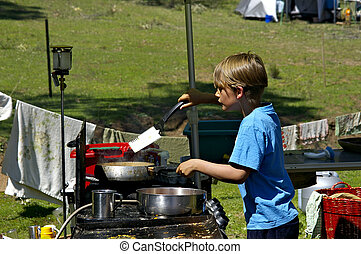 szakács, tábor
