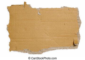 szakadt, kartonpapír