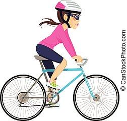szakmabeli woman, kerékpározás