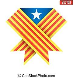 szalag, szabadság, catalonia.