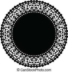 szalvéta, vektor, fekete, ábra