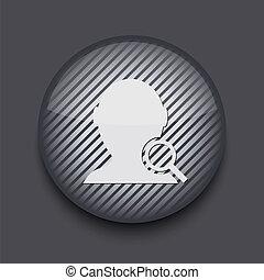 szary, 10, app, eps, tło., wektor, pasiasty, koło, ikona