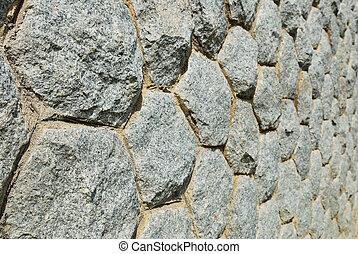 szary, szorstki, kamień ściana, z, cement