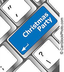 szavak, computer kulcs, billentyűzet, fél, karácsony