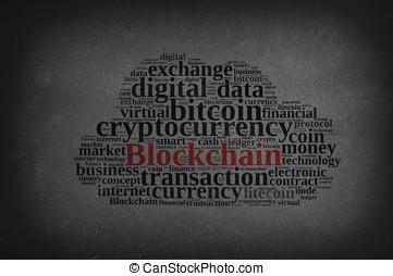 szavak, felhő, noha, blockchain.