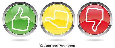 szavazás, red-yellow-green