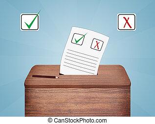 szavazócédula, szavaz, doboz