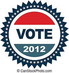 szavaz, jelvény, 2012