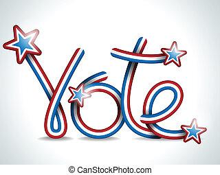 szavaz, usa, elnöki, szalag, választás