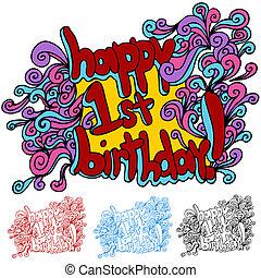 szczęśliwe urodziny, pierwszy