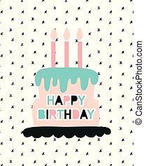 szczęśliwe urodziny, powitanie karta, szablon