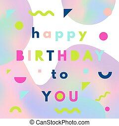 szczęśliwe urodziny, powitanie karta