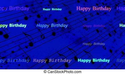 szczęśliwe urodziny, tło, muzyka