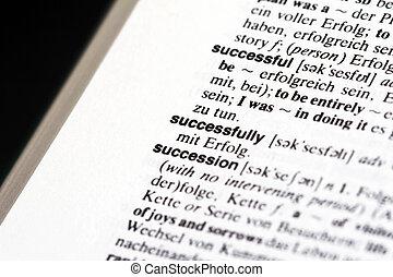 szczęśliwie, słownik