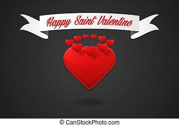 szczęśliwy, dzień, święty, valentine