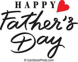szczęśliwy, dzień, ojcowie