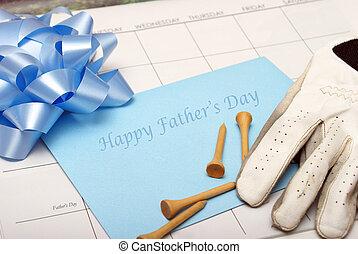 szczęśliwy, dzień, ojcowy