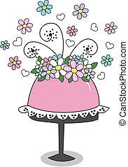 szczęśliwy, inny, albo, urodzinowe celebrowanie